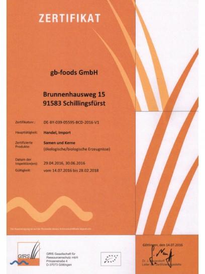 Bio Zertifikat - gb-foods GmbH